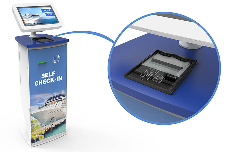 Passport & ID Card Reader in a Cruise Ship Check-In Kiosk