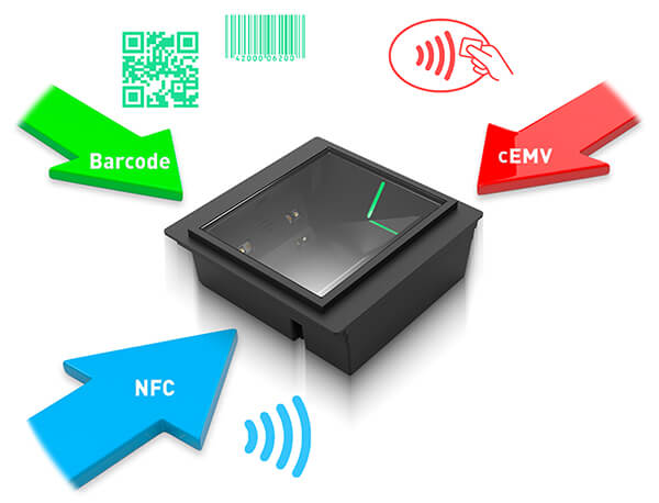 Three-Way Ticket Read: Barcode, NFC and cEMV