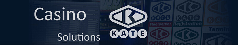 KATE Casino Solutions logo in band