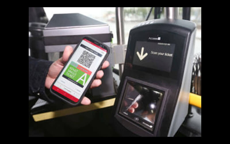 Access-IS VAL100 alongside Masabi's My Fare solution