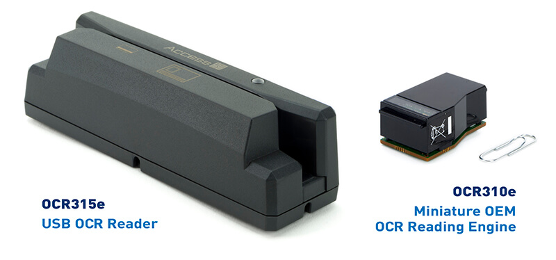 Access-IS Products: OCR315e USB OCR Reader and OCR310e Miniature OEM OCR Reading Engine