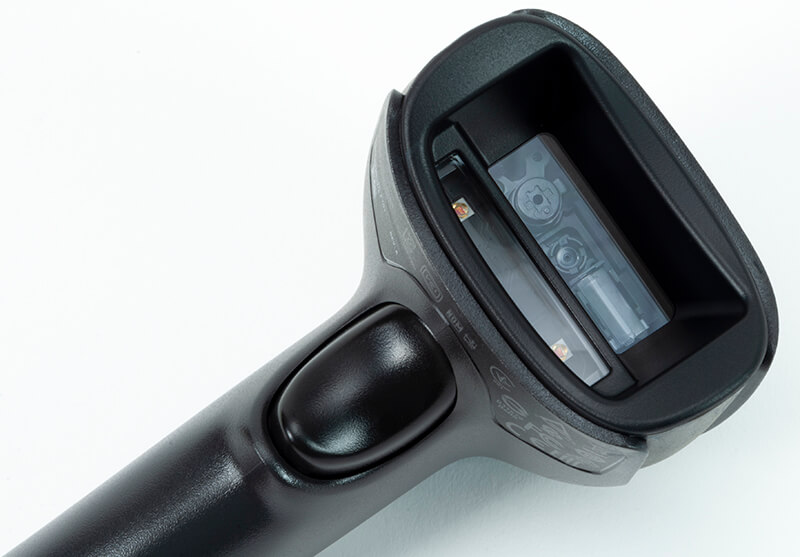 1950g Handheld Scanner detail: Scanning head and trigger