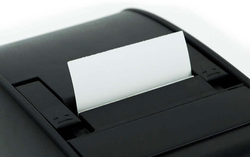 RP9000 Receipt Printer - Detail view of paper feed