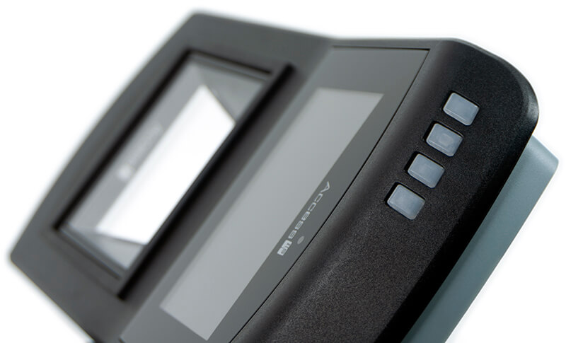 Detail of VAL100 Ticket Reader: Top